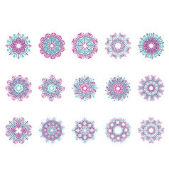Flower motif vector image