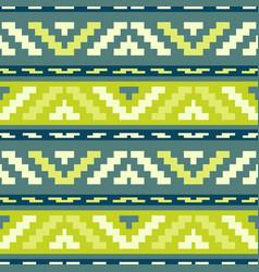 geen stripped tribal geometric pattern vector image