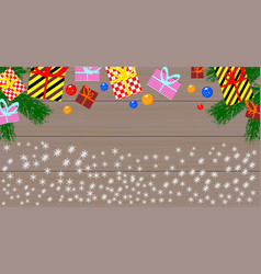 Gift boxes and christmas balls vector