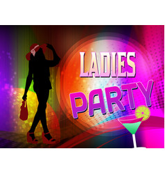 Girls party poster or flyer vector
