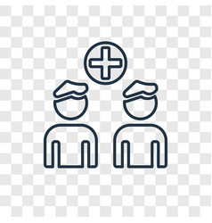 group of people concept linear icon isolated on vector image