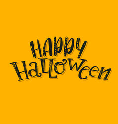 halloween abstract logo vector image