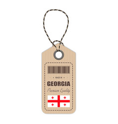 hang tag made in georgia with flag icon isolated vector image