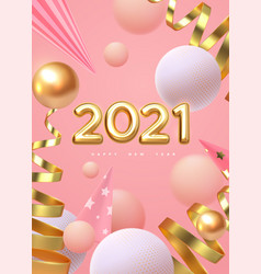 happy new 2021 year holiday vector image