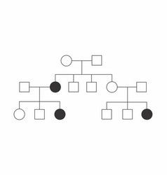 Heredogram simple vector