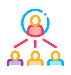 human meeting icon outline vector image