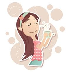 Inhale tea vector