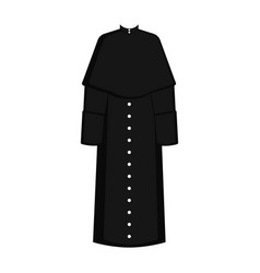 Isolated cassock image vector
