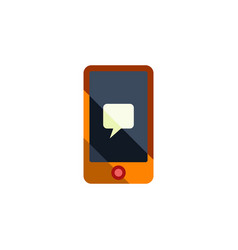 isolated message flat icon chatting vector image