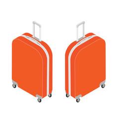 isometric travel suitcase vector image