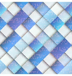 Light blue geometric pattern with matrix elements vector image