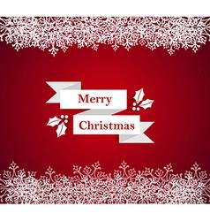 Merry Christmas snowflake border vector image