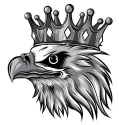 monochromatic logo queen eagles vector image
