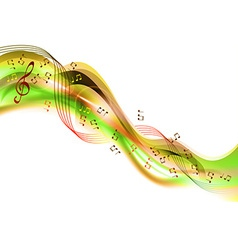 Music abstract green vector