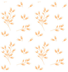 oat pattern cereal plants oatmeal vector image