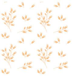 Oat pattern cereal plants oatmeal vector