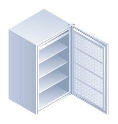 open fridge icon isometric style vector image