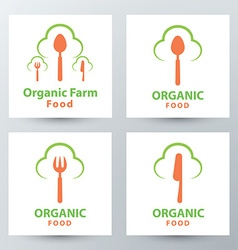 Organic food symbol icon vector