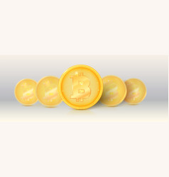 Pattern gold cryptocurrencies with golden vector