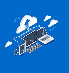 pc software upload user data vector image