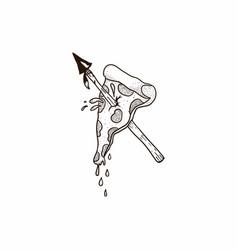 Pizza hand drawn icon vector