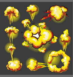 Pop art comic style explosion effect vector