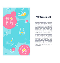 Prp treatment article template vector
