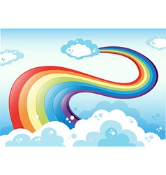 Rainbow and sky vector