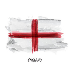 realistic watercolor painting flag of england vector image