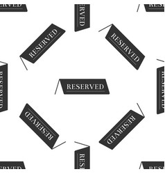 Reserved icon seamless pattern on white background vector
