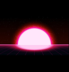 Retrowave synthwave vaporwave saturated pink color vector