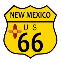 Route 66 new mexico flag vector