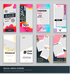 sale shop now collection set covers vector image