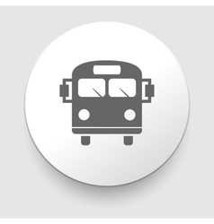 School Bus Icon with Color Variations vector image
