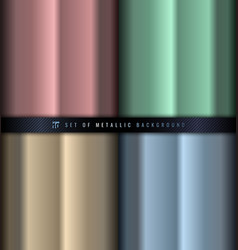 Set gradient pink green blue and gold vector