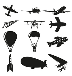 Set of flying icons vector image