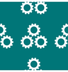 Settings Sign web icon flat design Seamless gray vector