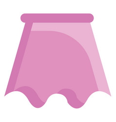 Simple on white background a pink skirt vector