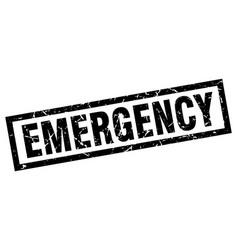 Square grunge black emergency stamp vector
