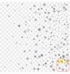 Star falling print transparent silver starry vector