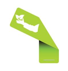 sticker eco green vector image