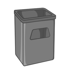 Street dustbin icon black monochrome style vector