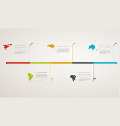 structure timeline with world map vector image