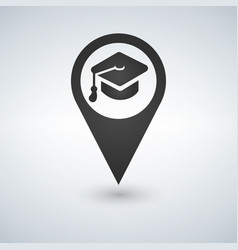 University location icon drop shadow map pointer vector