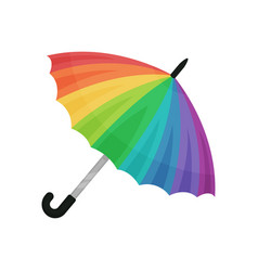 Ute rainbow umbrella on a vector