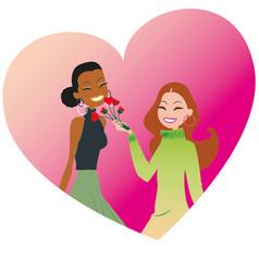 Valentine-love vector