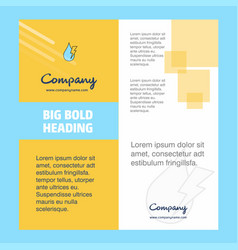 Water drop with current company brochure title vector