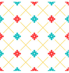 white turkish ornamental ceramic tile vector image