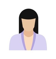 Woman avatar sign vector