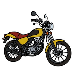 Yellow light motorbike vector